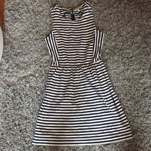 Madewell Navy and White Striped Dress
